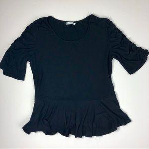 Mika Rose Black Crop Top Size XL